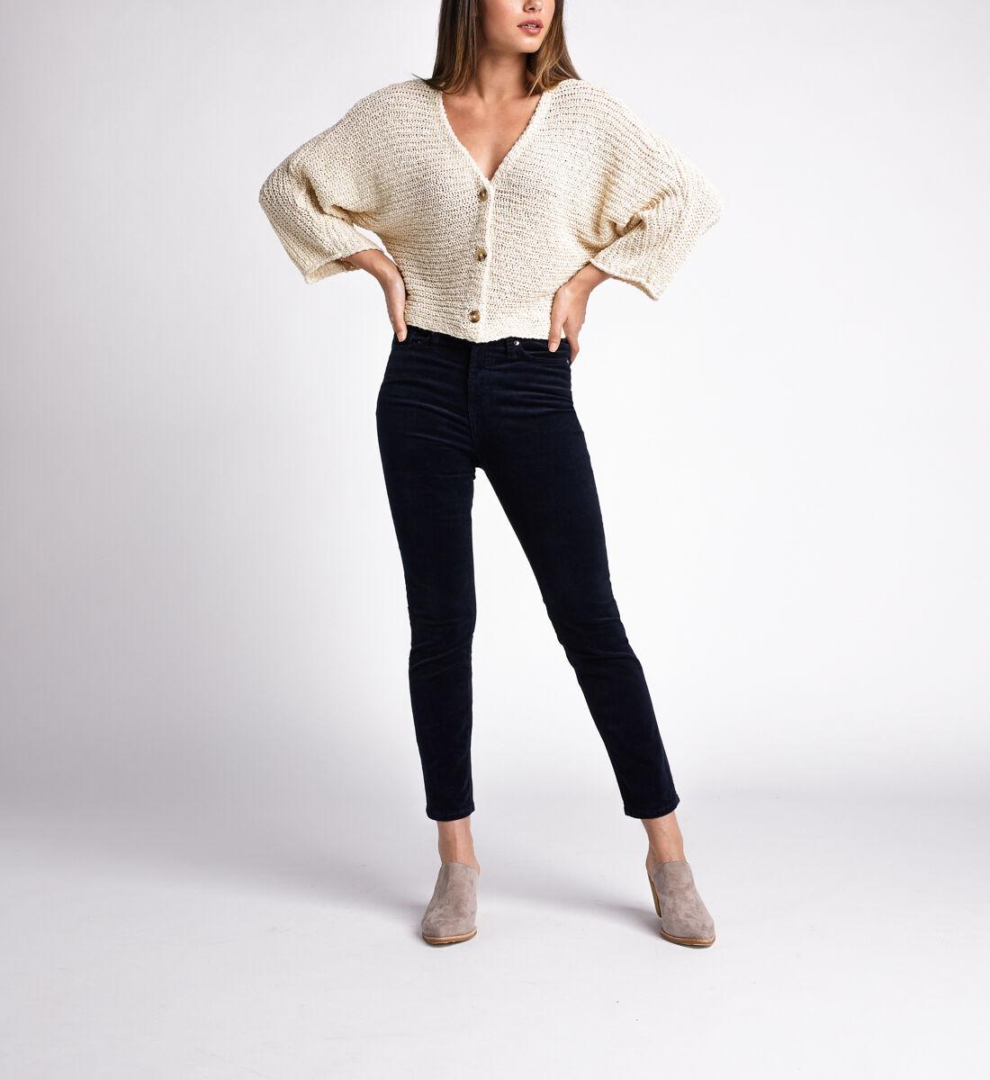 High Note High Rise Slim Leg Pants,Navy Front