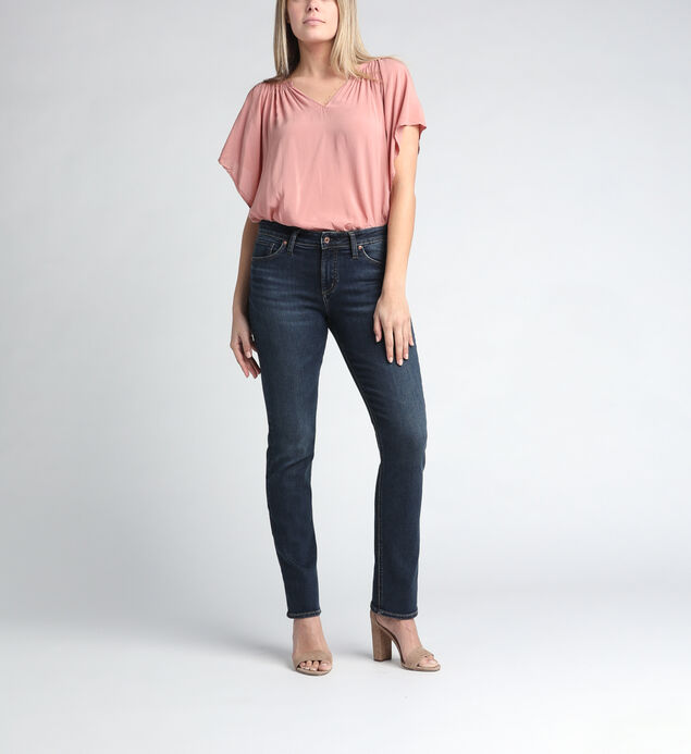 Avery High Rise Straight Leg Jeans