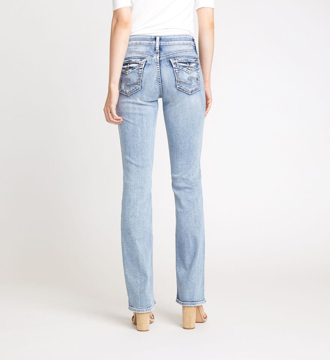 Suki Mid Rise Slim Bootcut Jeans Back