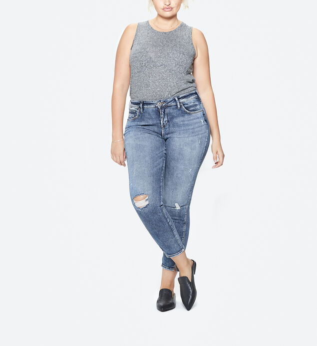 Avery Plus Size Ankle Skinny Acid Wash