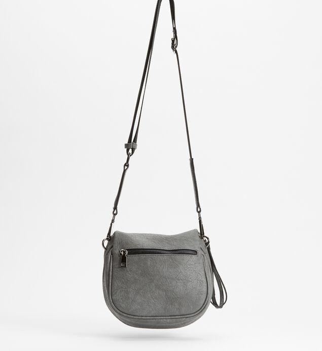 Zip Saddle Bag, Grey, hi-res