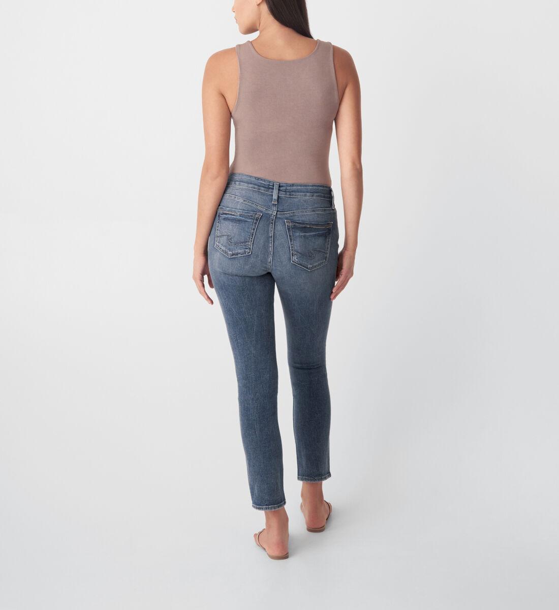 Elyse Mid Rise Straight Leg Jeans Back
