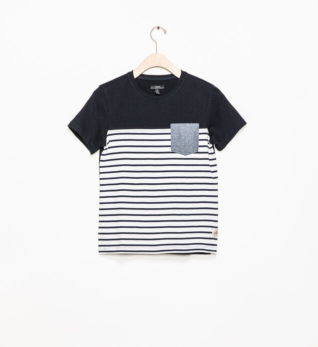 Striped Color-Block Tee (4-7)
