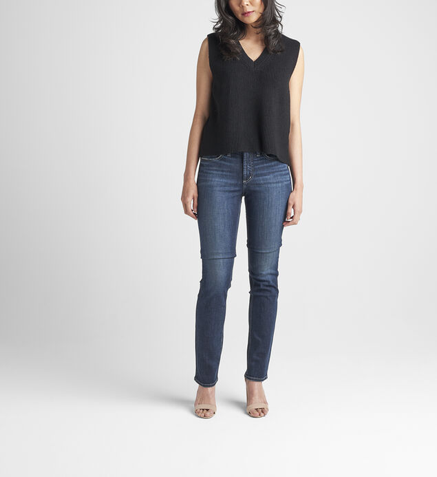 Most Wanted Mid Rise Straight Leg Jeans