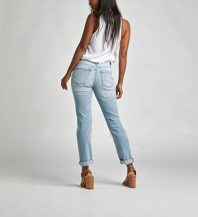 Not Your Boyfriends Jeans Mid Rise Slim Leg Jeans, , hi-res