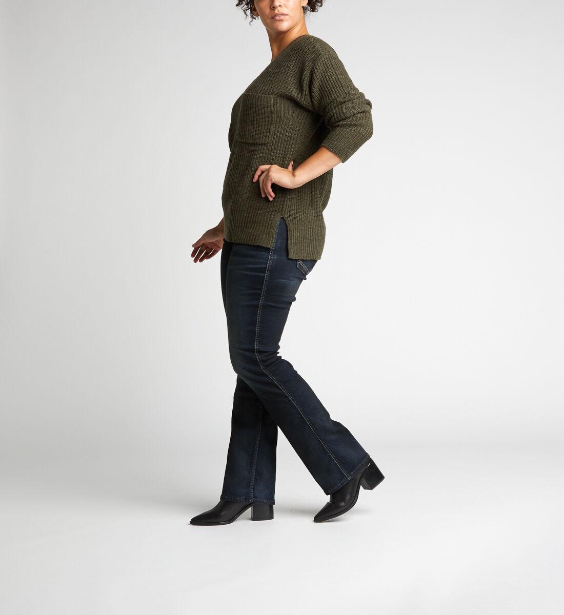 Suki Mid Rise Slim Bootcut Jeans Plus Size Side