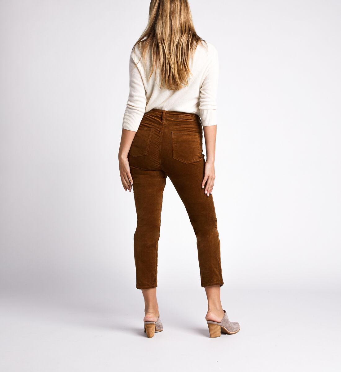 High Note High Rise Slim Leg Pants,Caramel Back