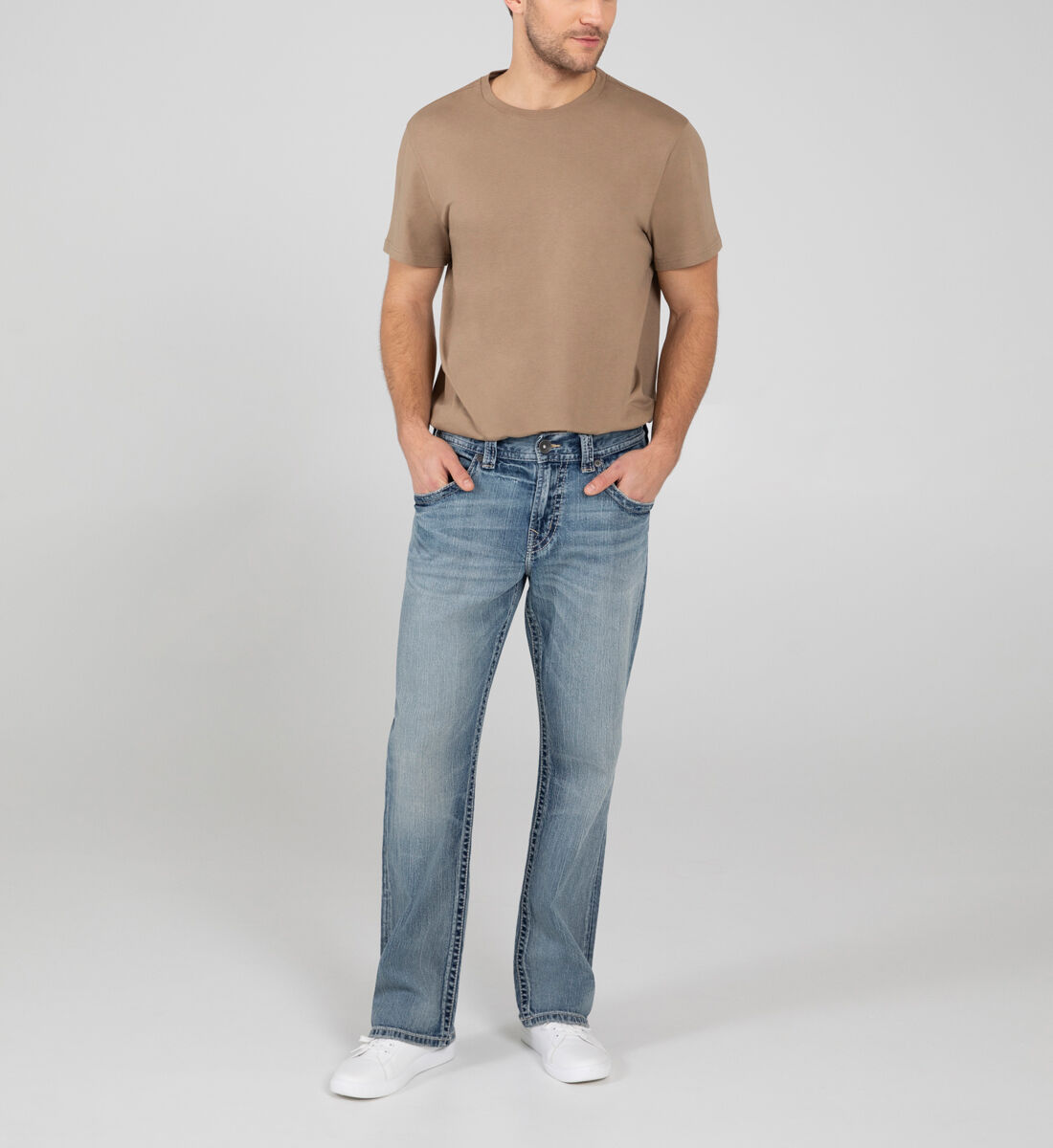 Gordie Loose Fit Straight Leg Jeans Front