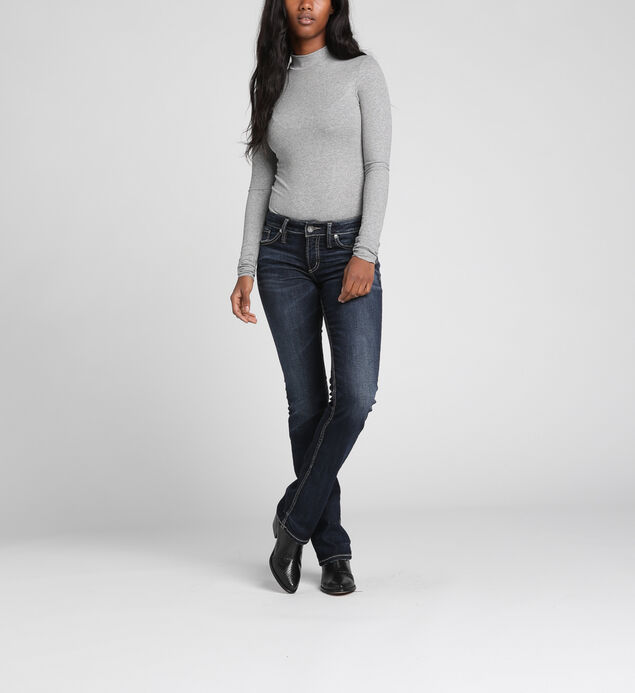 Elyse Mid-Rise Curvy Relaxed Slim Bootcut Jeans