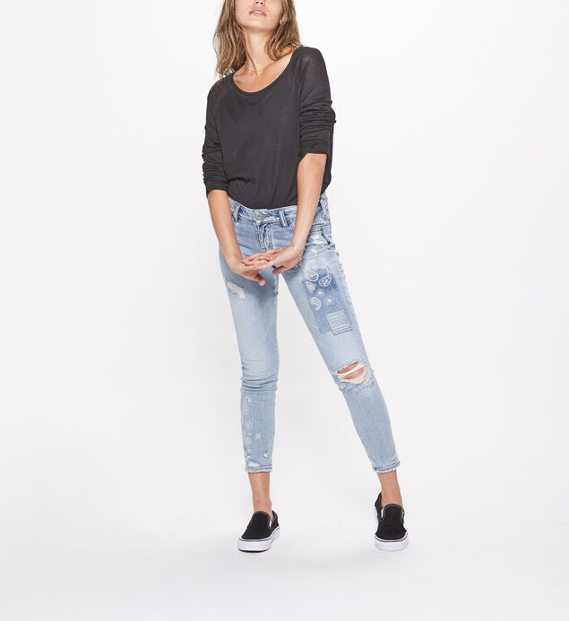 Aiko Ankle Skinny Mid Rise Light Wash