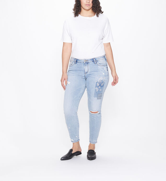 Aiko Mid Rise Ankle Skinny Jeans Plus Size