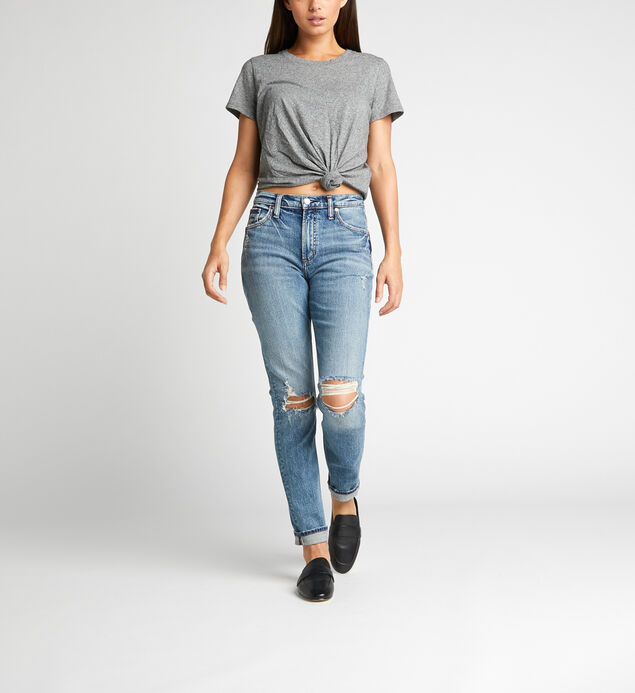 Frisco High Rise Tapered Leg Jeans