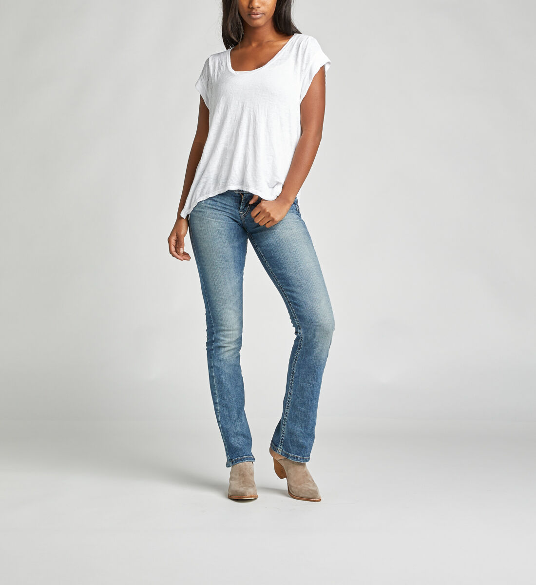 Tuesday Low Rise Slim Bootcut Jeans Alt Image 1