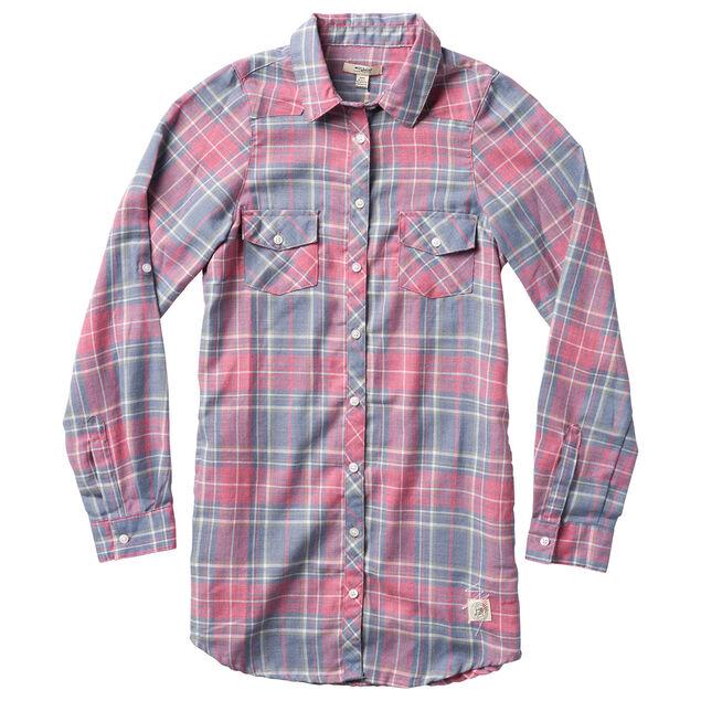 Long Sleeve Elongated Woven Shirt