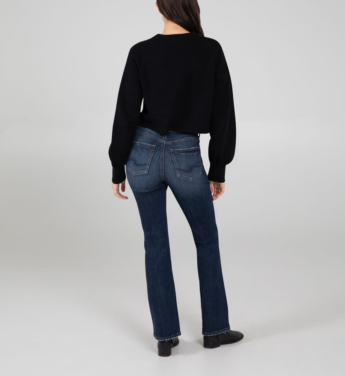 Avery High Rise Slim Bootcut Jeans Back