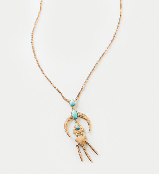 Gold-Tone Tribal Pendant Necklace