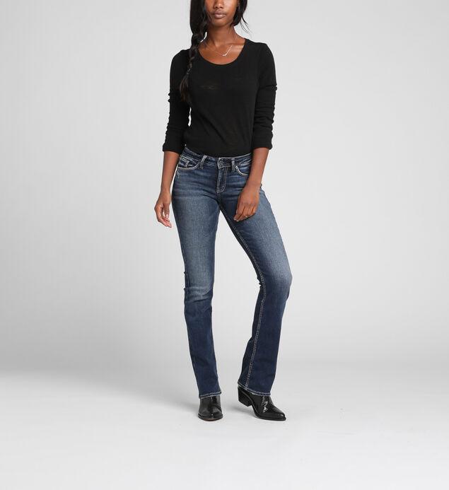 Suki Mid-Rise Curvy Slim Bootcut Jeans