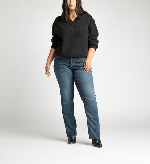 Suki Mid Rise Straight Leg Plus Size Jeans