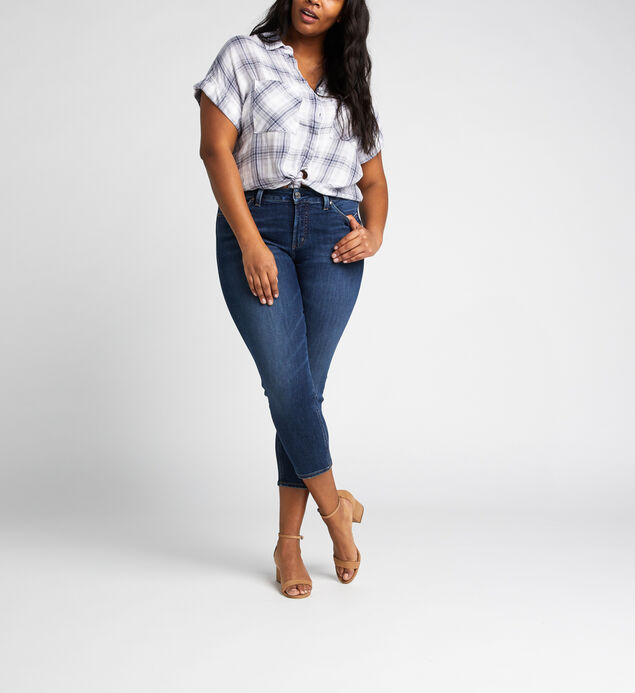 Avery High Rise Skinny Crop Jeans Plus Size