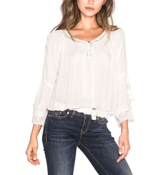 Peasant Shirt with Lace