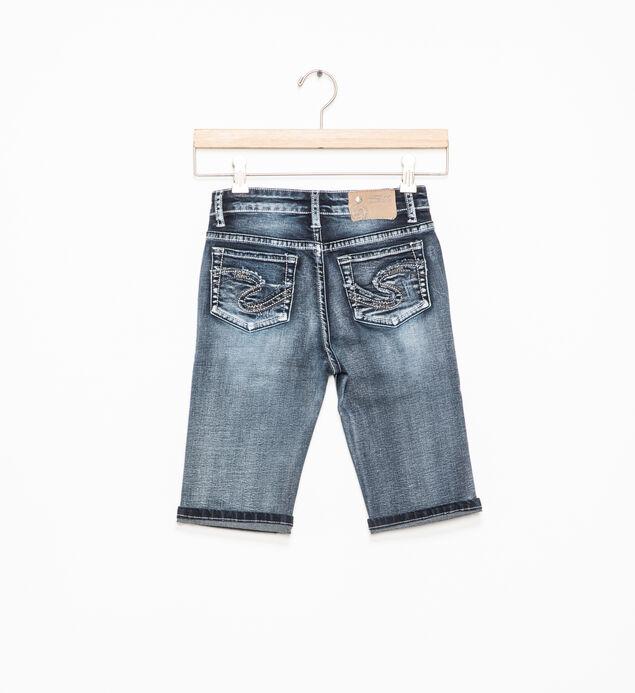 Tina Dark-Wash Bermuda Shorts (4-6x), , hi-res