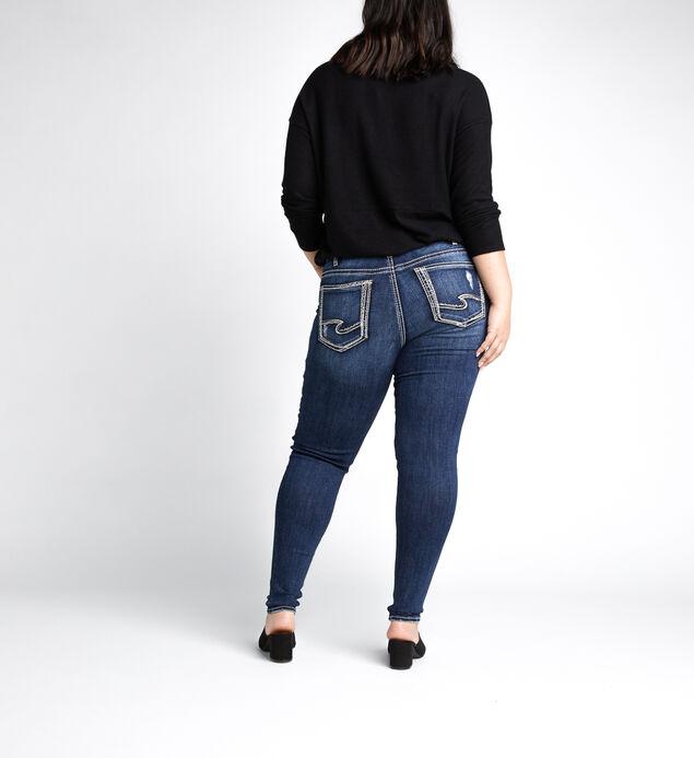 Suki Mid Rise Skinny Leg Jeans Plus Size, Indigo, hi-res