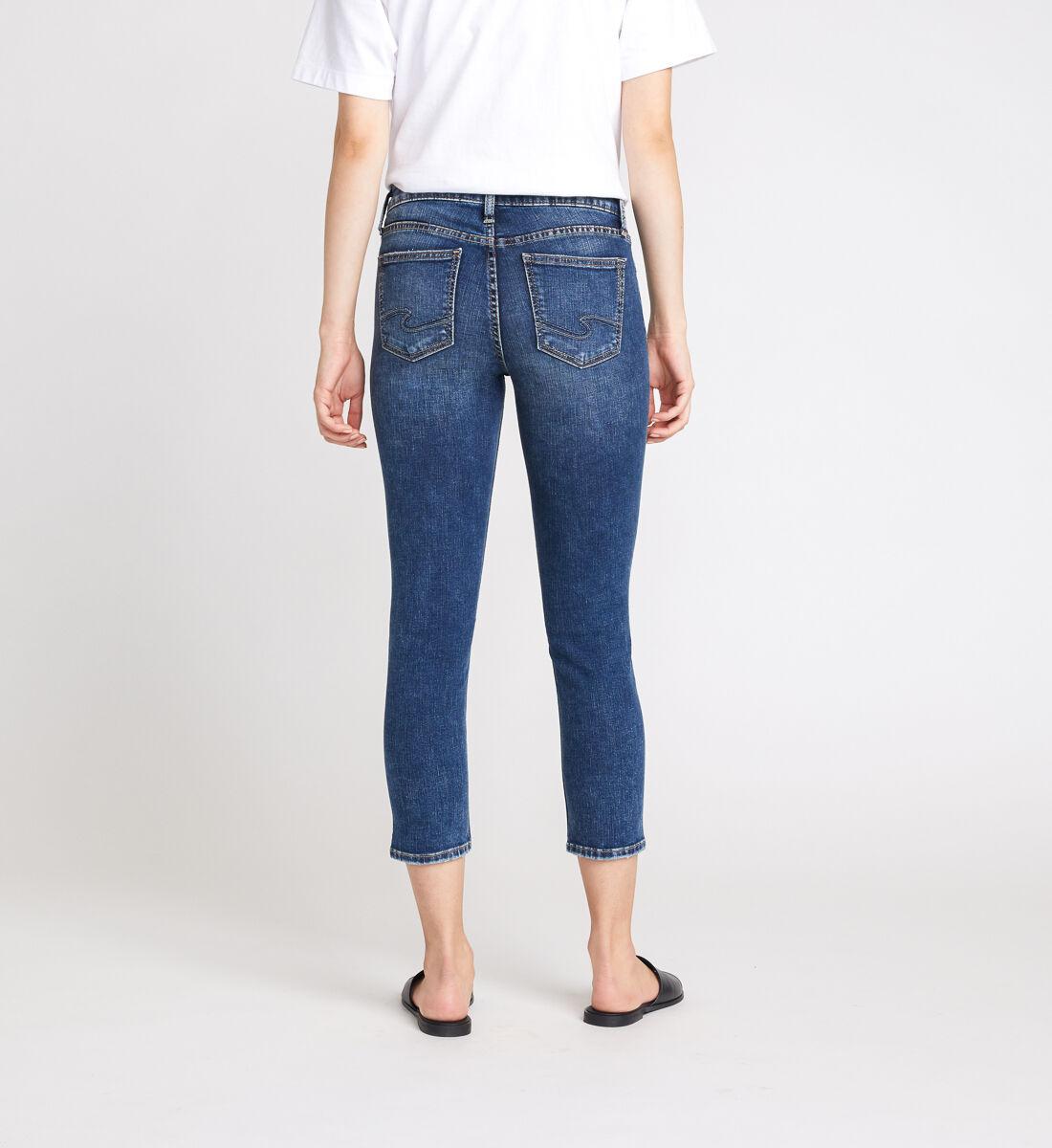 Elyse Mid Rise Slim Crop Jeans Back