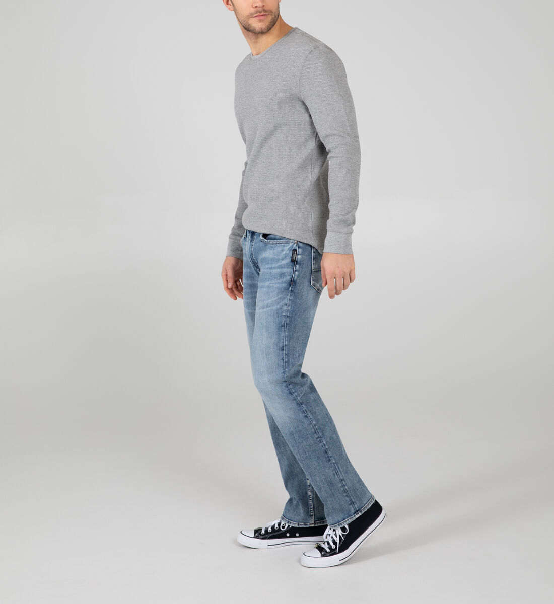 Allan Classic Fit Straight Leg Jeans Side