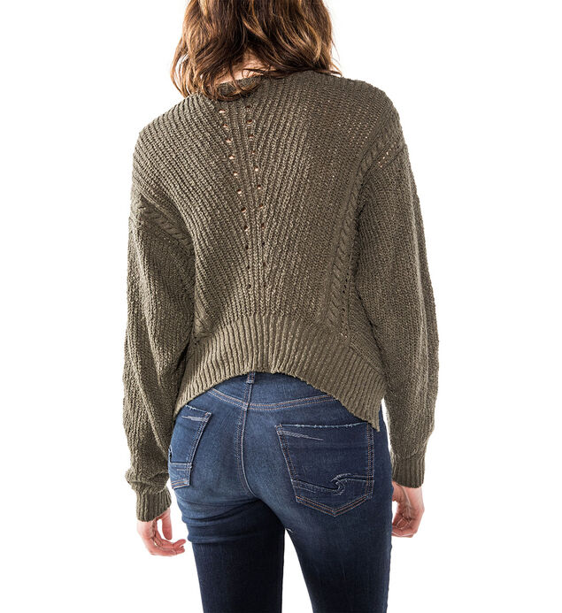 Boxy Sweater Crop, , hi-res