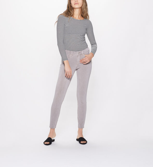 Elyse Super Skinny Mid Rise Color Wash