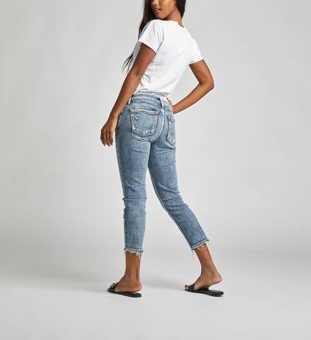 Elyse Mid Rise Slim Crop Jeans, , hi-res