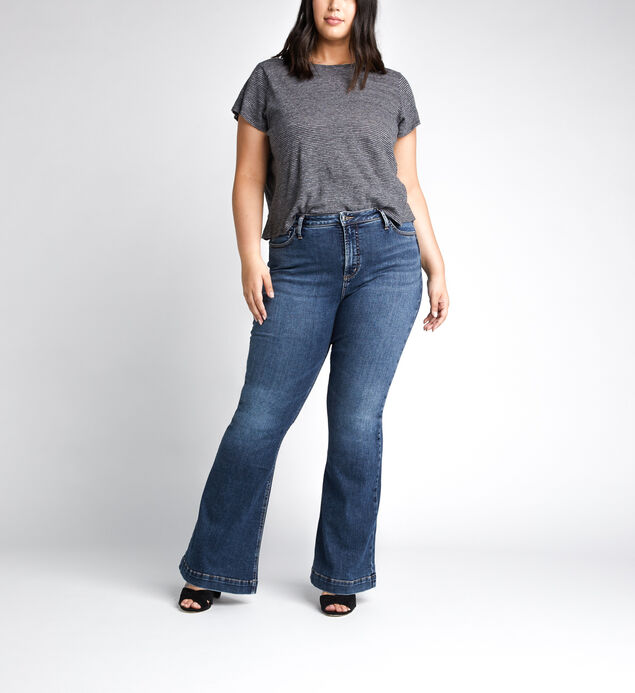 High Note High Rise Flare Jeans Plus Size