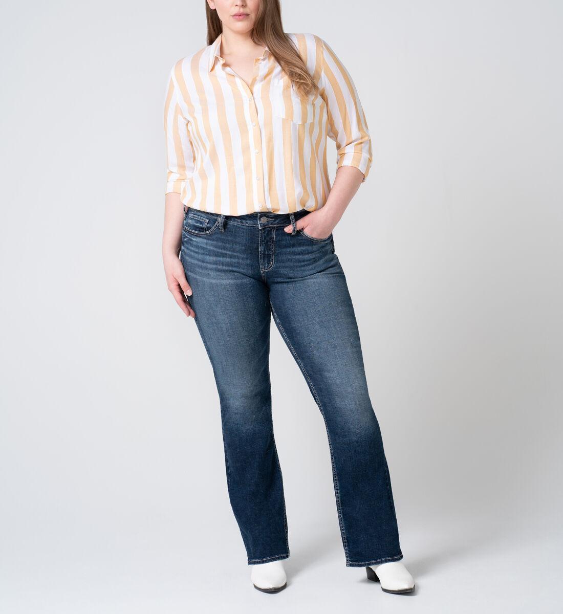 Suki Mid Rise Slim Bootcut Jeans Plus Size Front
