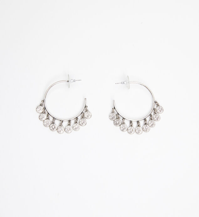 Gold-Tone Disc Hoop Earrings