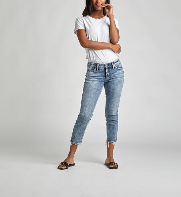 Elyse Mid Rise Slim Crop Jeans