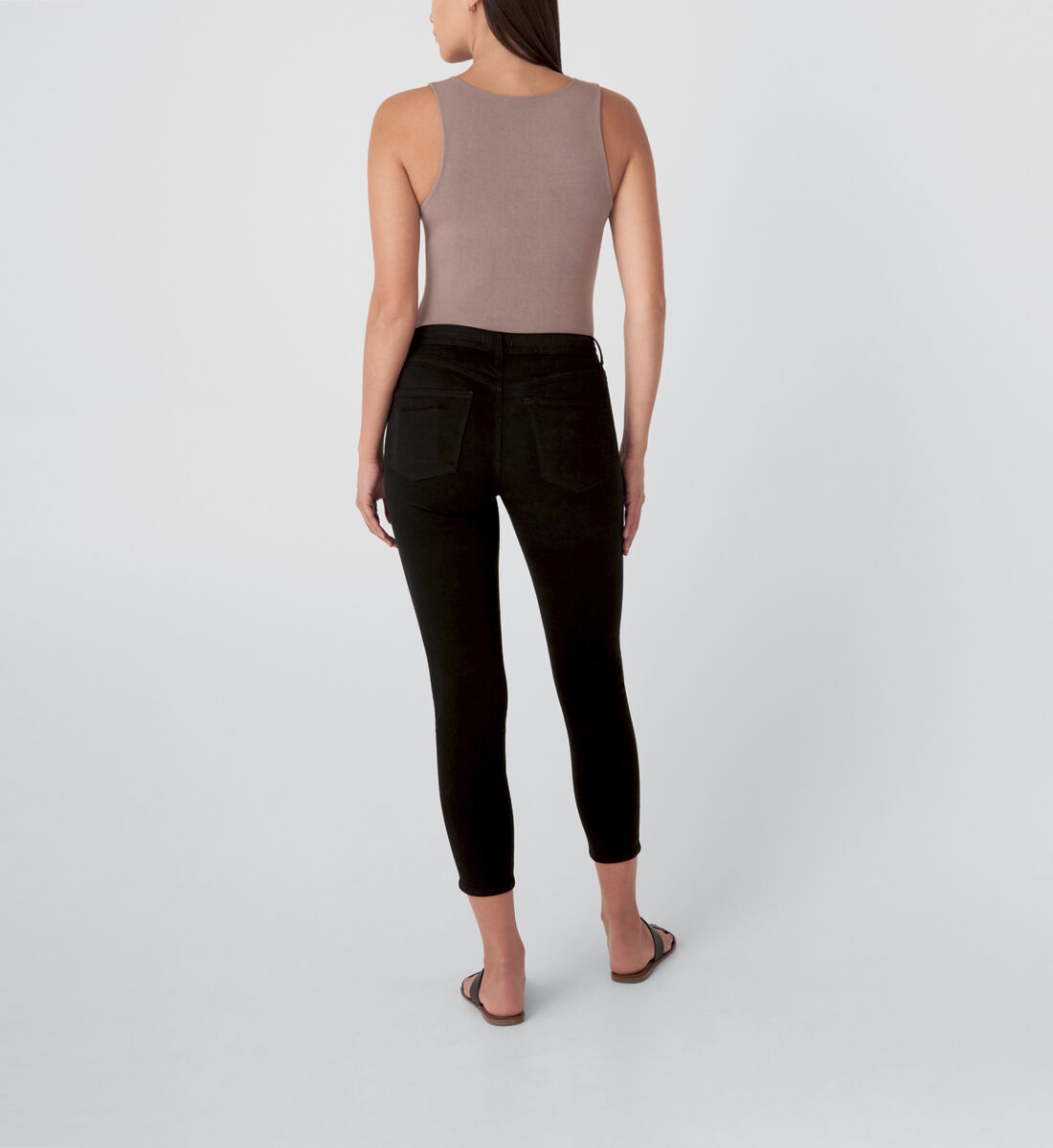 Most Wanted Mid Rise Skinny Jeans,Black Back