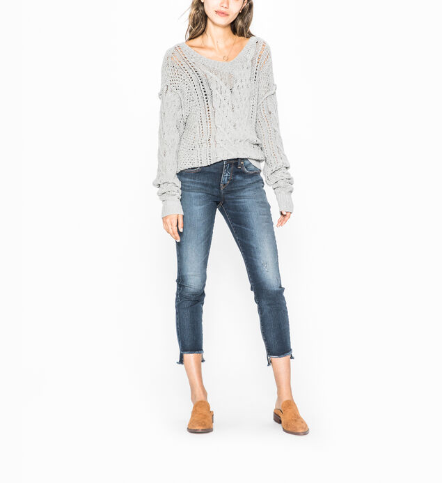 Avery Skinny Crop Dark Wash