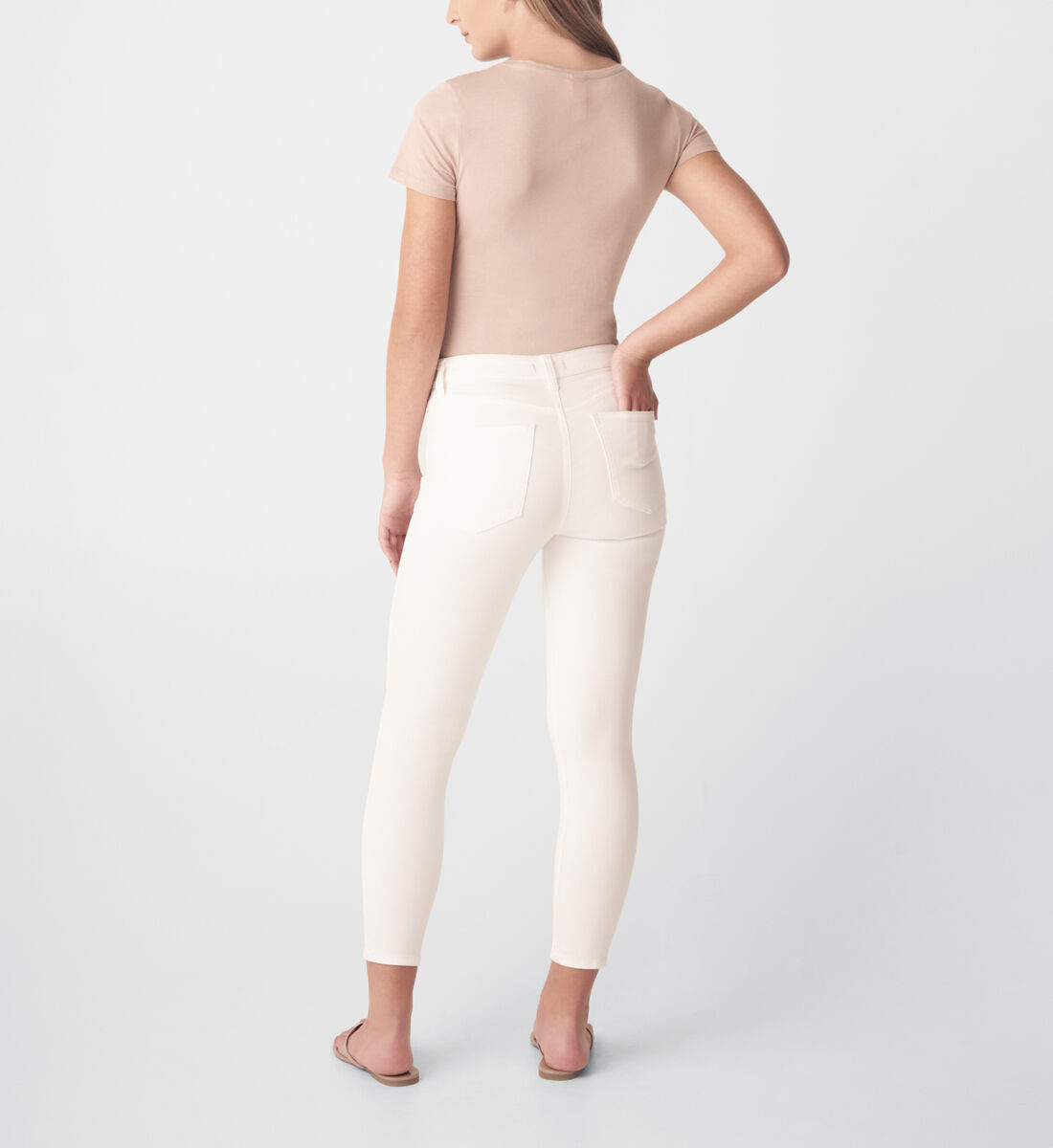 Most Wanted Mid Rise Skinny Jeans,White Back