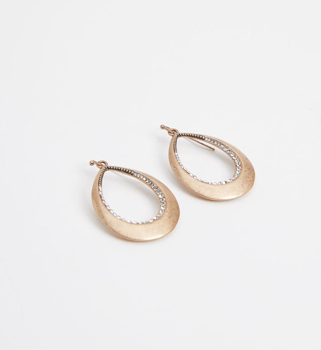 Silver-Tone Teardrop Statement Earrings