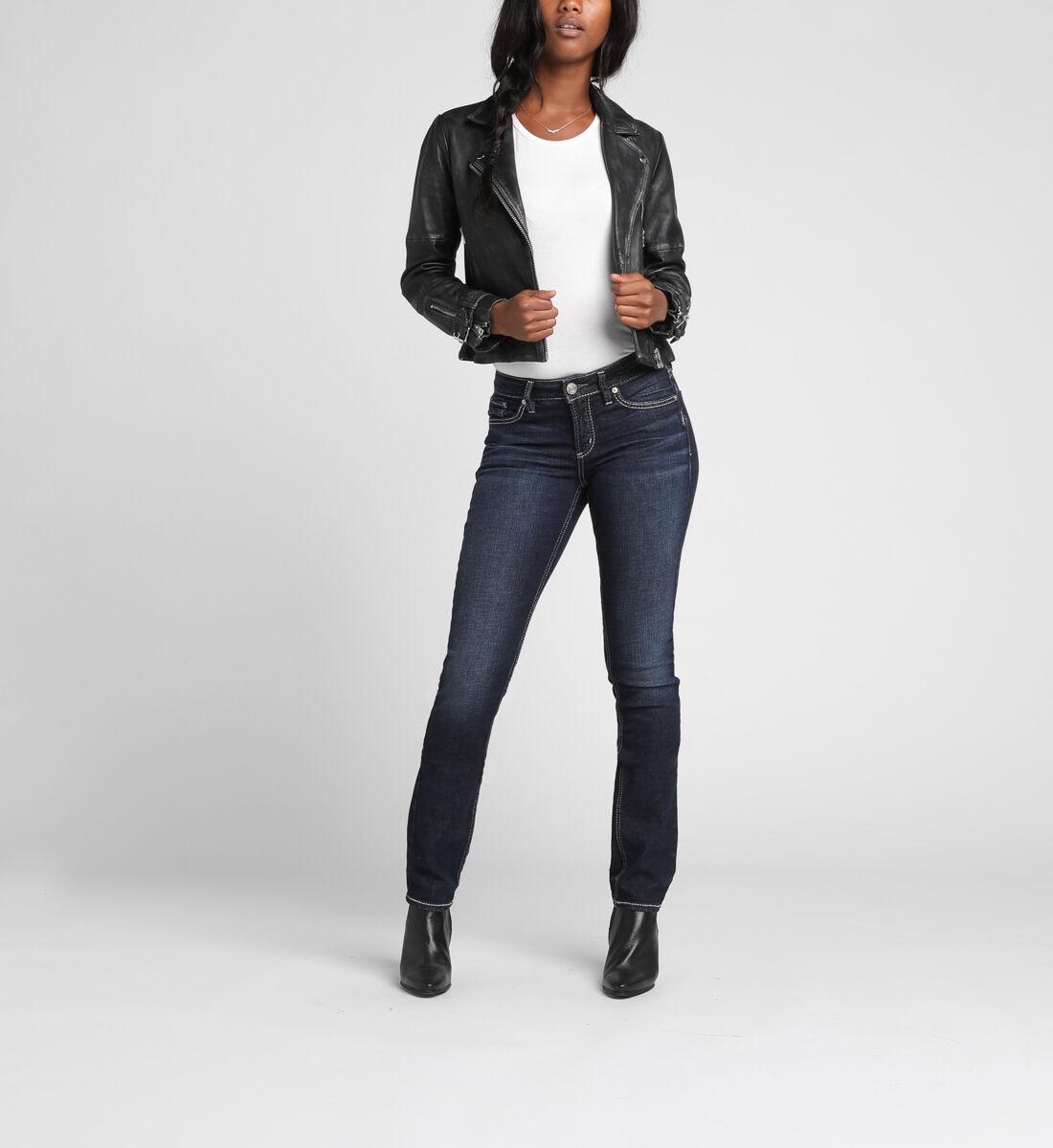 Elyse Mid Rise Straight Leg Jeans Alt Image 1