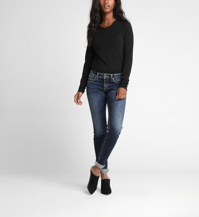 3581d6dc675fb ... Boyfriend Mid Rise Slim Leg Jeans