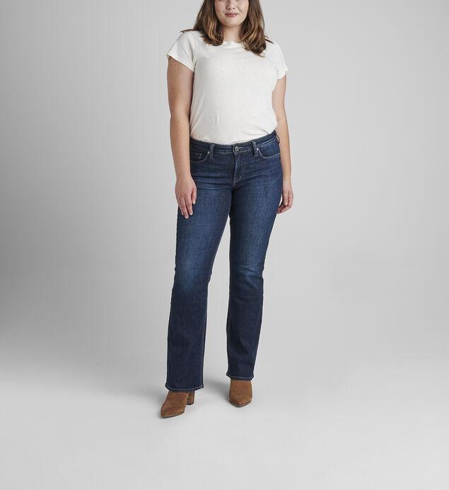 Suki Mid Rise Slim Bootcut Jeans Plus Size
