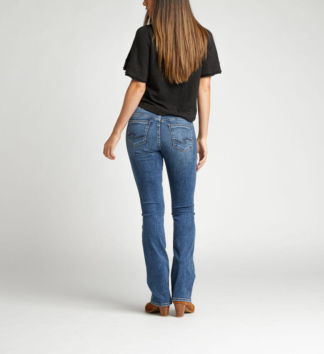 Suki Mid Rise Bootcut Jeans Back