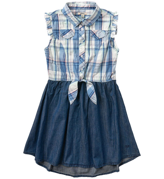 Ruffled-Sleeve Twofer Dress (4-7)