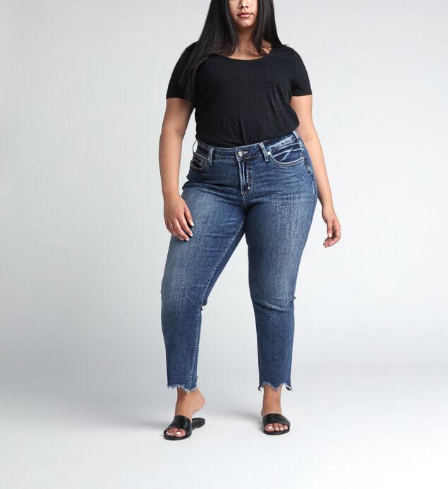 Boyfriend Mid Rise Slim Leg Plus Size Jeans