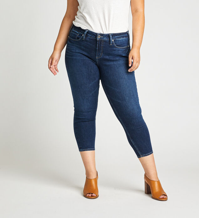 Suki Mid Rise Skinny Crop Jeans Plus Size