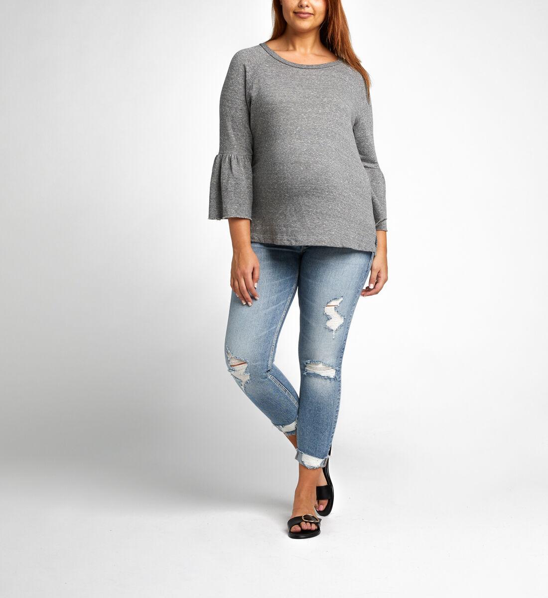 Suki Skinny Crop Maternity Jeans Front
