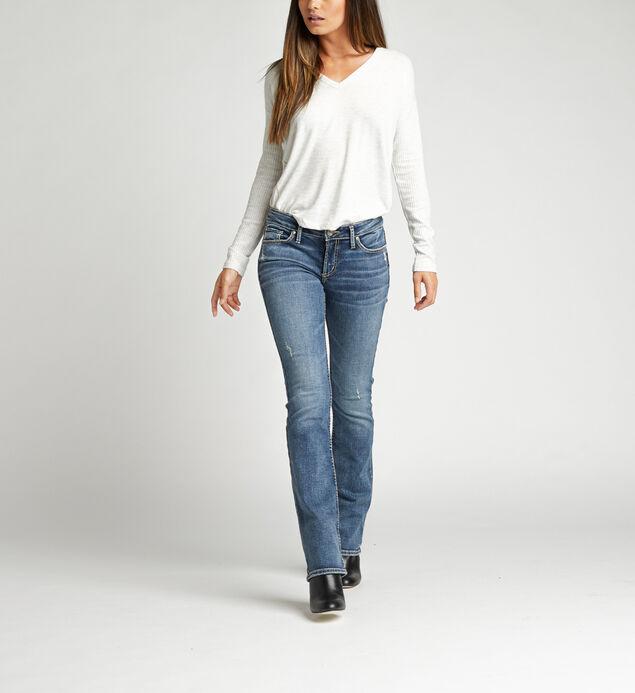 Elyse Mid Rise Slim Bootcut Jeans