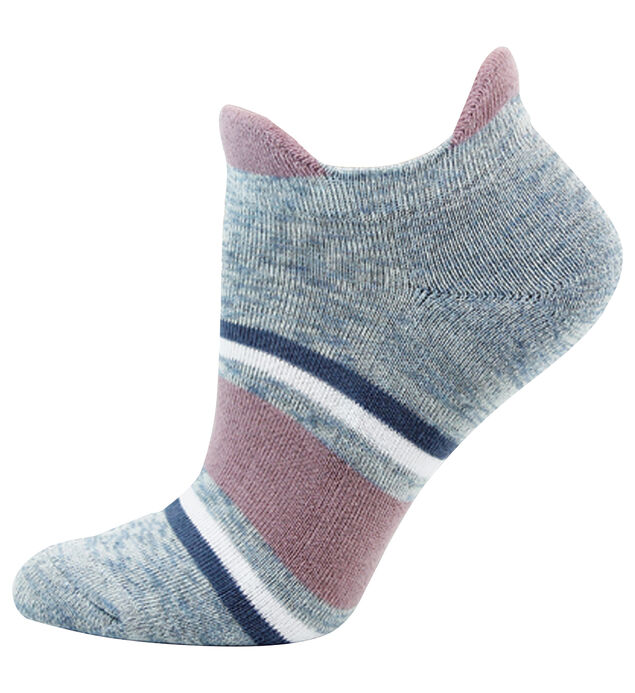 Block Stripe Ankle Womens Socks