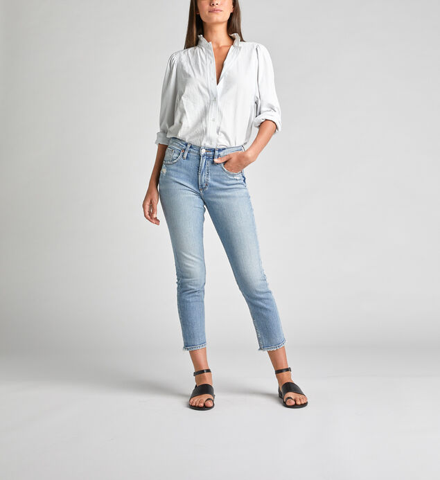 Frisco High Rise Straight Crop Jeans
